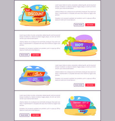 hot summer sale web pages set with sample text vector image
