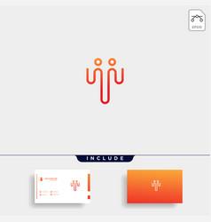 Initial t human community logo template vector