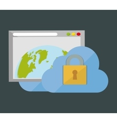 Internet security global web cloud vector