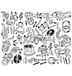 jazz doodles vector image