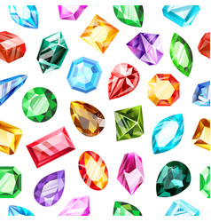 jewel gems pattern crystal gemstone jewels game vector image