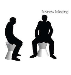 Man in Business Meeting pose vector