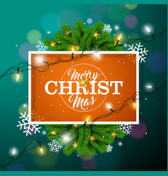 merry christmas on orange background vector image