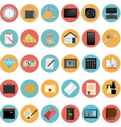 Modern Icons Set vector image