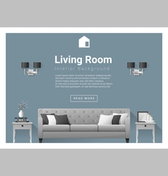 Modern living room Interior background 5 vector
