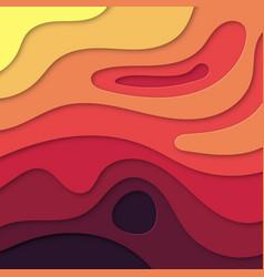 Modern paper cut art design template vector