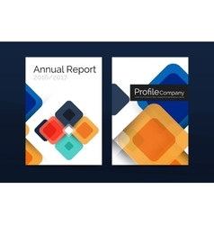 Modern square business annual report cover vector image