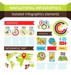 Navigational infographics set vector