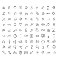 Outline web icon set - sport and fitness vector