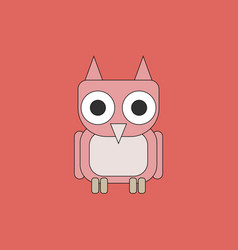 Owl - icon design on white background vector