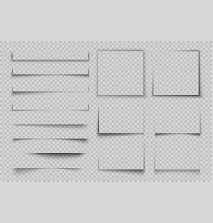 paper shadow effect rectangle box square shadow vector image