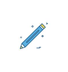 pencil pen study icon vector image
