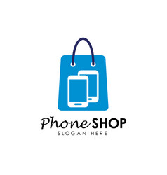 phone shop logo design template gadget shop logo vector image