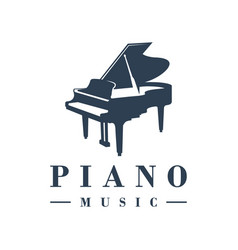piano musical instrument logo vector image
