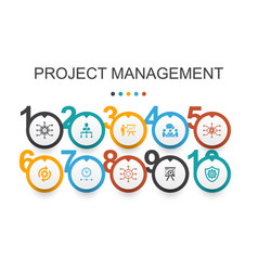 Project management infographic design template vector