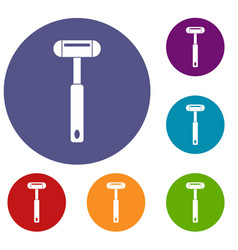 Reflex hammer icons set vector