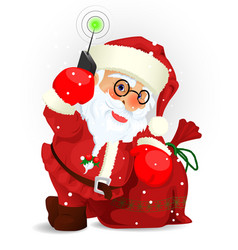 santa clause eps 10 vector image
