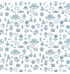 seamless doodle pattern vector image