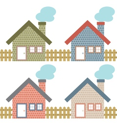 Set Of Country Home Style vector image