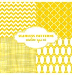 set sweet seamless patterns vector image