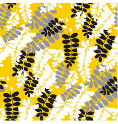Simple yellow acacia flower seamless pattern vector