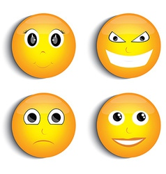 Smiley face set vector image