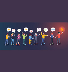 Social opinion leader audience influence concept vector