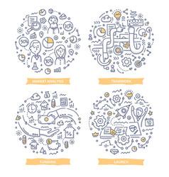 Startup doodle vector