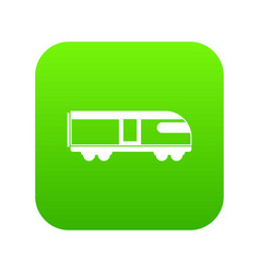 Swiss mountain train icon digital green vector