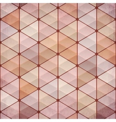 Textured vintage beige triangles background vector image