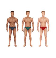 three standing man vector image