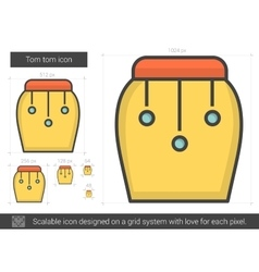 Tom tom line icon vector