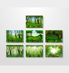 tropical forest background collections vector image