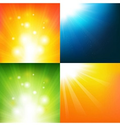 Underwater And Sunburst vector