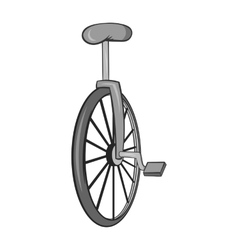 Unicycle icon black monochrome style vector image