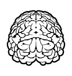 unique human brain sign vector image