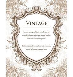 Vintage frame with floral vector