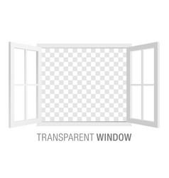 White window template vector