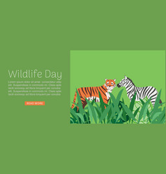 wildlife day web banner vector image