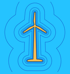 wind turbine logo or sign sand color icon vector image