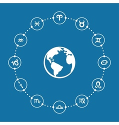Zodiac Infographic vector image