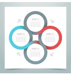 Abstract 4 Circle Ribbon Infographic 1 vector image