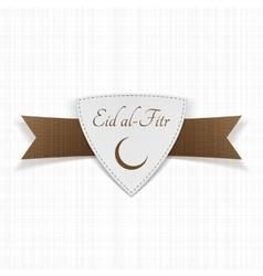 Eid al-Fitr muslim paper Label vector image