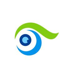 eye abstract swirl logo vector image vector image
