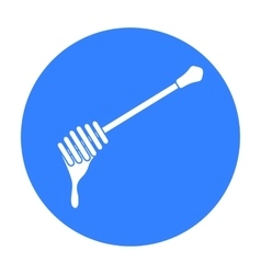 Honey dipper icon in black style isolated on white vector