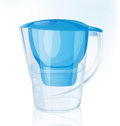 Jug filter for water vector image vector image