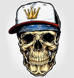 skull with bandana and cap vector image