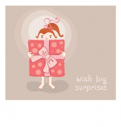 cartoon greeting card vector image vector image