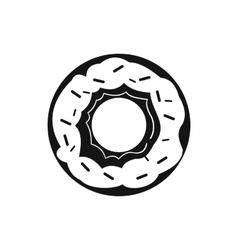 Donut icon in simple style vector image vector image