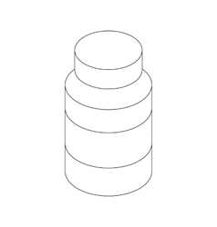 Medicine bottle icon isometric 3d style vector image vector image